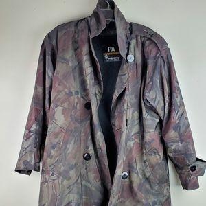 Iridescent Camouflage London Fog Trench Coat